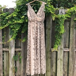 H&M nude snake print maxi dress